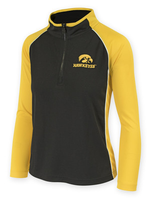 Women's Iowa Hawkeyes Black & Gold Performance Shirt - Chrome