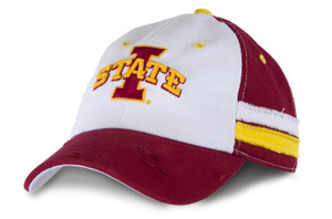 Iowa State Men's Cardinal & White Distressed Cap - Anderson