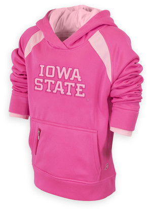 Iowa State Pink Fleece Youth Hoodie - Jess