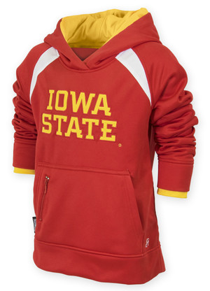 Iowa State Cardinal & Gold Youth Fleece Hoodie - Jess