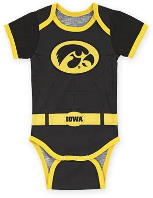 Iowa Hawkeyes Black & Gold Super Hero Onesie