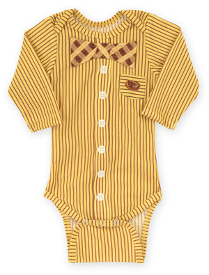 Iowa State Cyclones Cardinal & Gold Infant Onesie Bow Tie - Andre