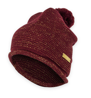 Iowa State Cardinal & Gold Slouch Beanie - Maddie