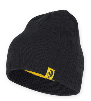 Iowa Hawkeyes Black & Gold Reversible Youth Beanie - Ian