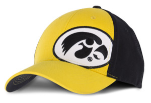 Iowa Hawkeyes Black & Gold Toddler Fitted Cap - Daniel