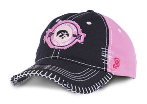 Iowa Hawkeyes Pink Heavy Stitched Farm Strong Cap - Brittany