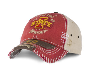 Iowa State Heavy Stitched, Distressed Cap - Berkeley