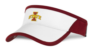 Iowa State Cardinal & White Adjustable Visor - Sonya