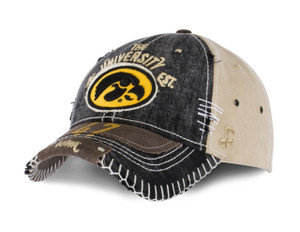 Iowa Hawkeyes Distressed, Heavy Stitch Hat - Berkeley