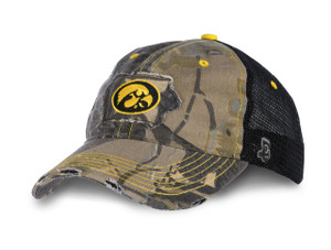 Iowa Hawkeyes Camo with Mesh Hat - Bradley
