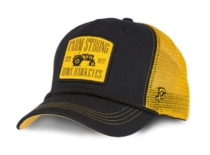 Iowa Hawkeyes Black and Gold Farm Strong Hat - Bentley