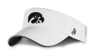 Iowa Hawkeyes White and Black Reflective Visor - Cash