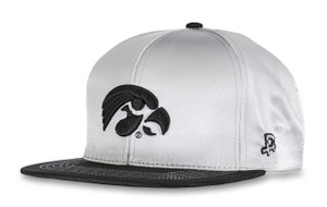 Iowa Hawkeyes White Satin Hip Hop Hat - Dwayne