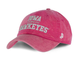 Iowa Hawkeyes Enzyme Washed Pink Hat - Enzyme