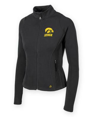 Iowa Hawkeyes Women's Black Fitness Jacket - Bowman