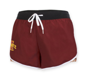 Iowa State Women's Cardinal & Gold Fitness Shorts - Emma