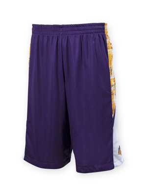 UNI Panthers Reversible Purple and Gold Shorts - Ash