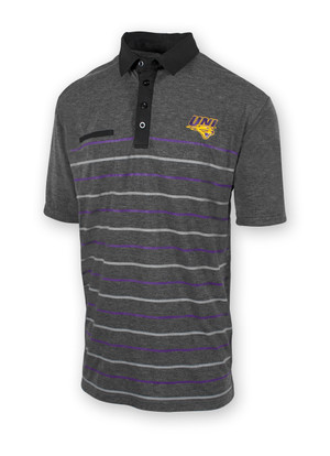 UNI Panthers Grey Polo with Striped Pattern - Kellen