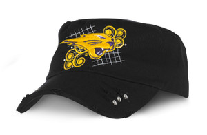 UNI Panthers Distressed Military Cap - Paisley