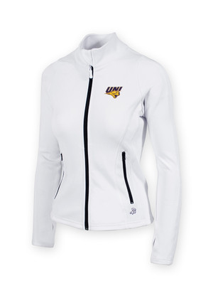 UNI Panthers Women's White Fitness Jacket - Haley