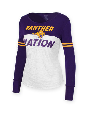 UNI Panthers Purple & Gold Long Sleeve Shirt - Cora