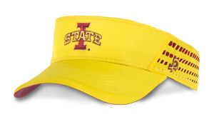 Iowa State Cardinal and Gold Visor - Christian