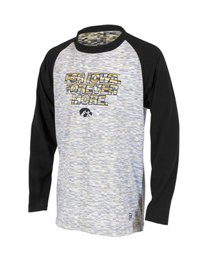 Iowa Hawkeyes Black and Gold Youth Long Sleeve - Ada