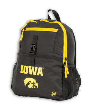 Iowa Hawkeyes Youth Black and Gold Backpack - Graham