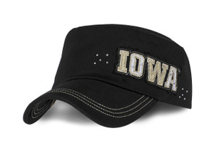 Iowa Hawkeyes Womens Military Style Cap - Cheyenne