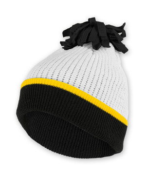 Iowa Hawkeyes Black, Gold, & White youth Beanie - Grace