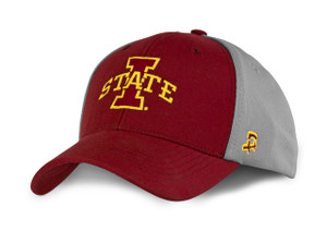 Iowa State Men's Cardinal and Grey Fitted Hat - Bryce