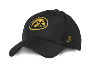 Iowa Hawkeyes Men's XL Hat - Black, Gold, Mesh - Bryce - AUTHENTIC BRAND