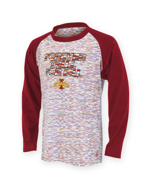 Iowa State Cardinal and Gold Long Sleeve - Ada