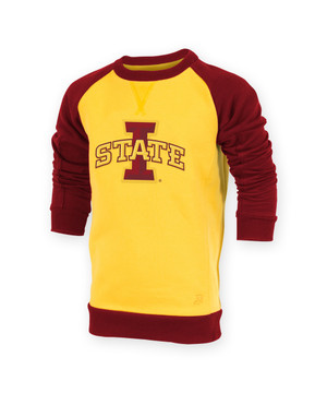 Iowa State Cardinal and Gold Youth Sweatshirt - Rebecca