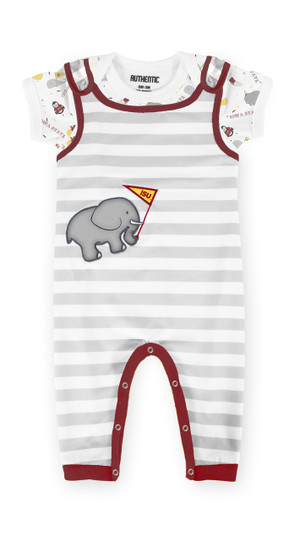 Iowa State Cardinal Baby Onesie Overall Set - Kendall