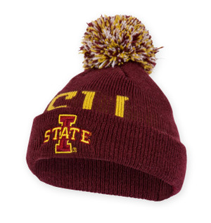 Iowa State Cardinal and Gold Infant Beanie - Kayden