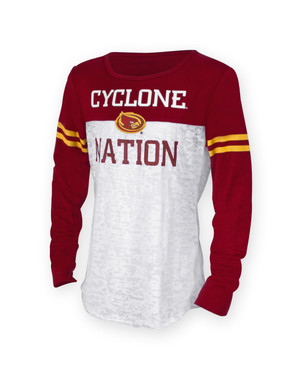 Iowa State Youth Cardinal & Gold Long Sleeve Shirt - Cora