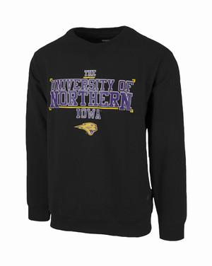 UNI Panthers Black Enzyme Washed Sweatshirt - Leiland