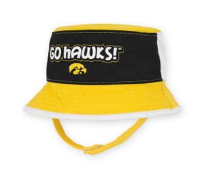 Iowa Hawkeyes Black & Gold Infant Bucket Hat - Hayes