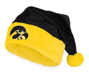 Iowa Black & Gold Santa Hat