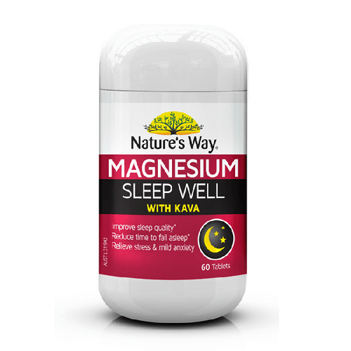 Magnesium Sleep Well with Kava 60 Tabs x 3 Pack Nature's Way