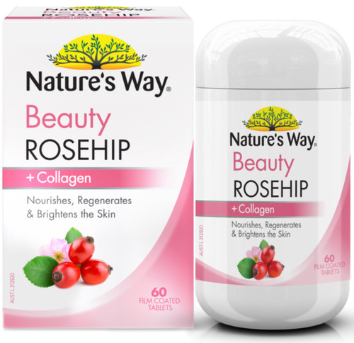 Beauty Rosehip and Collagen 60 Tabs x 3 Pack Nature's Way