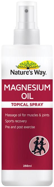 Magnesium Oil 250ml x 3 Pack Nature's Way