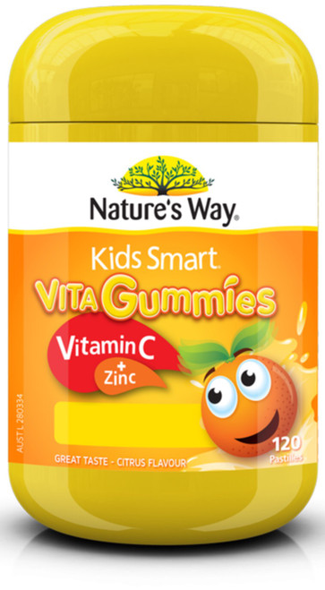 Kids Smart Vita Gummies Vitamin C plus Zinc 120 soft pastilles Nature's Way