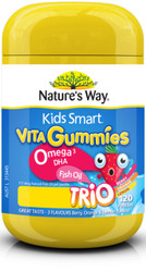 Kids Smart Vita Gummies Omega-3 DHA 120 Pastilles x 3 Pack Nature's Way