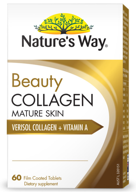 Beauty Collagen Mature Skin 60 Tabs x 3 Pack Nature's Way