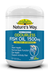 Fish Oil Odourless 1500mg 200 Caps Nature's Way