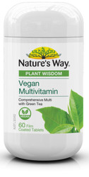 Plant Wisdom Vegan Multivitamin 60 Tabs x 3 Pack Nature's Way
