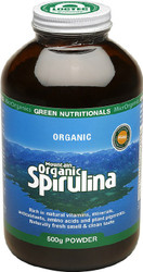 Mountain Organic Spirulina 500g Powder Green Nutritionals