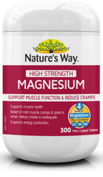 Magnesium 600mg High Strength 300 Tabs x 3 Pack Nature's Way